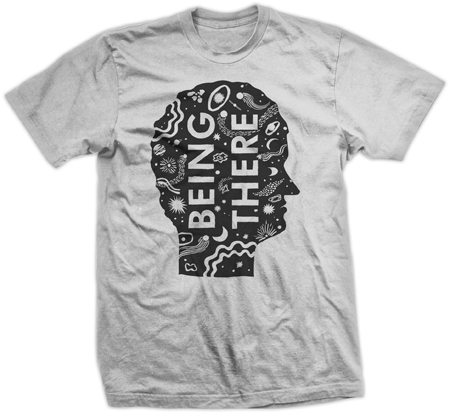 Being There tee in GREY
